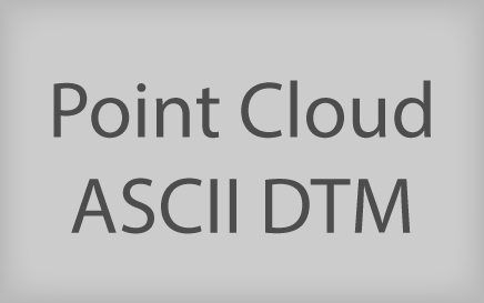 Point Cloud ASCII DTM