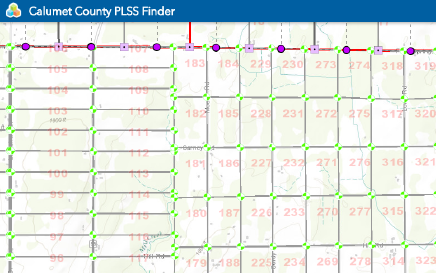Calumet County PLSS Finder