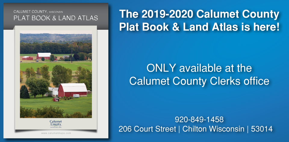 Calumet County Plat Book Is Here